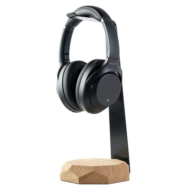 wooden Headphone stand wireless charger