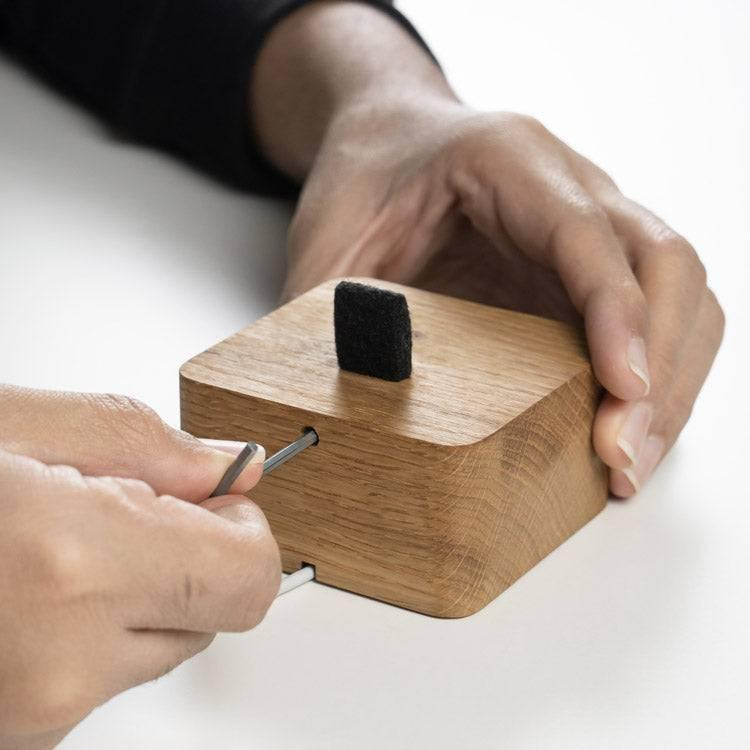 Wooden iPhone charging dock