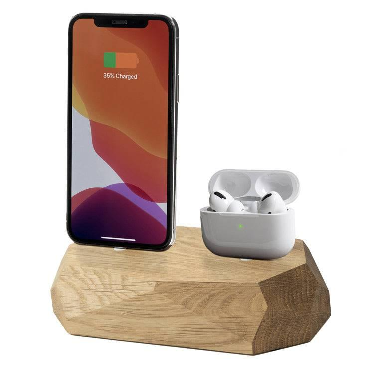 iphone and airpods charger |--variant--|  Oak