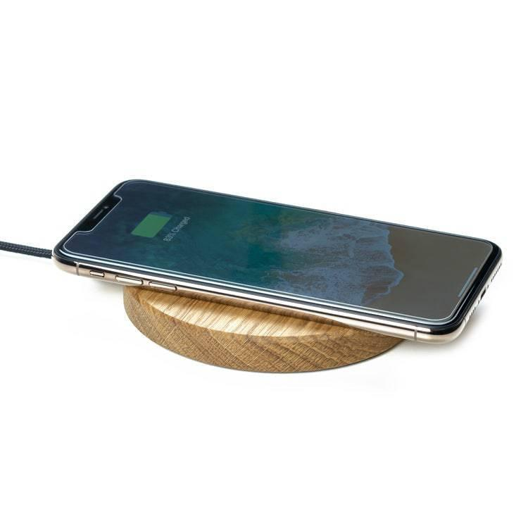 wooden slim wireless charging pad