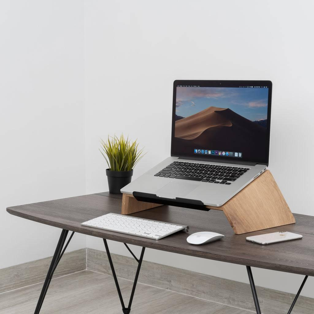 Solid wood laptop stand