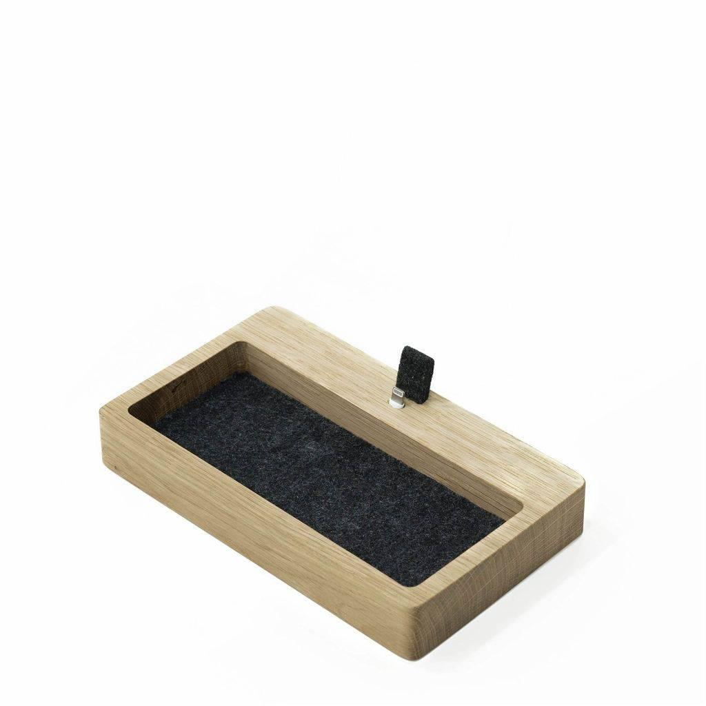 iPhone dock organizer - oak