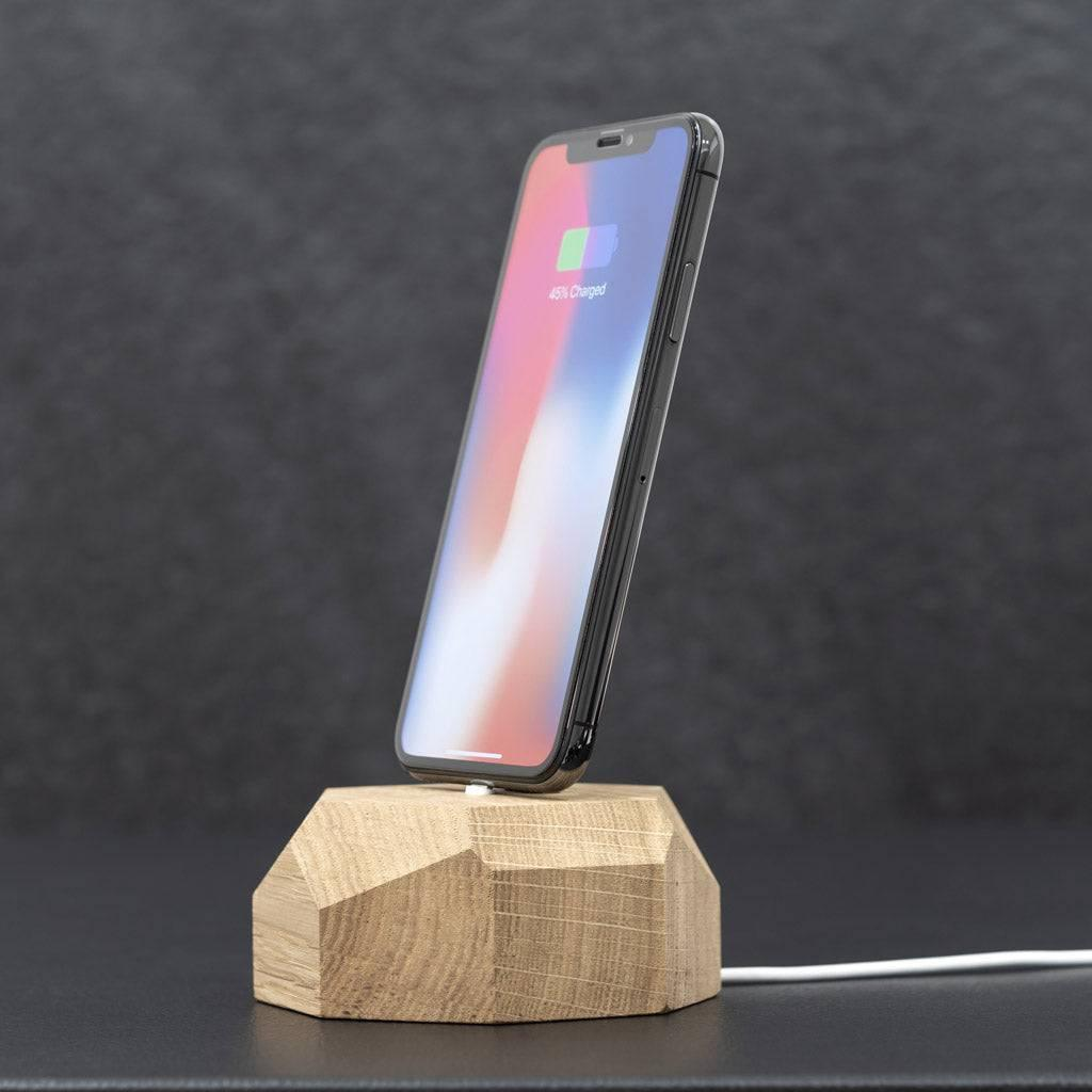 Wooden iPhone dock