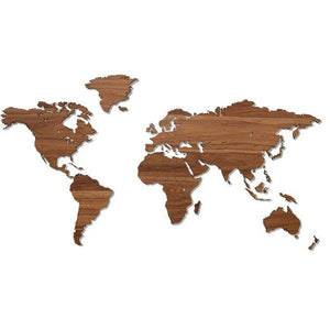 Wooden world map 3D