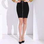 Women's High Waist Black Sexy Pencil Skirt