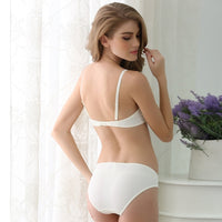 Women's Smooth  Push Up Seamless Bra And Comfortable Panty Set Lingerie