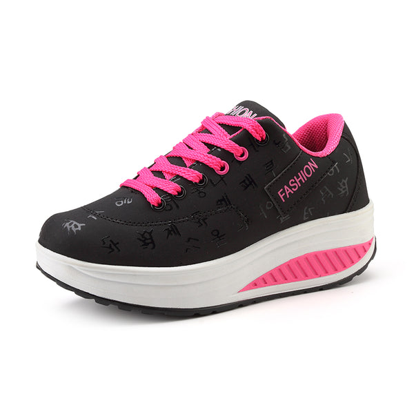 Women's Breathable Water Proof Fashion Lace Up Casual Sneakers