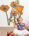 Poppy Pools Wall Decals