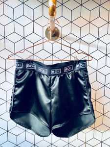 Black Satin Boxing Shorts