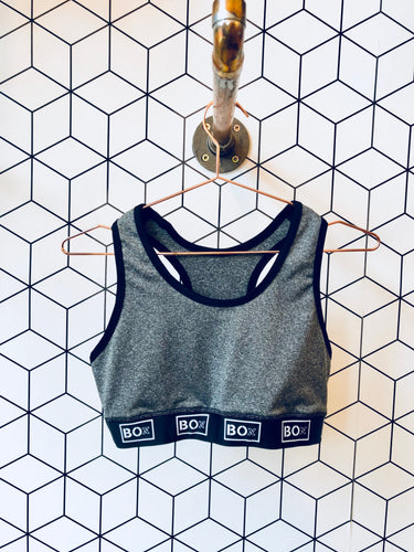 Grey Marl Sports Bra