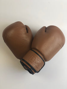 Tan Leather Boxing Gloves