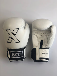White Leather Boxing Gloves
