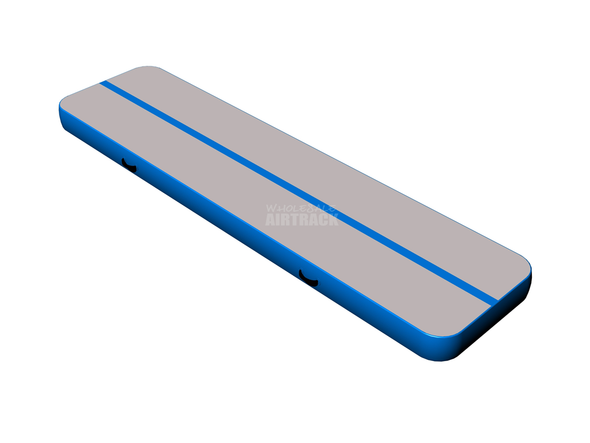 Unbelievable quality gray surface light blue side air track gymnastics price