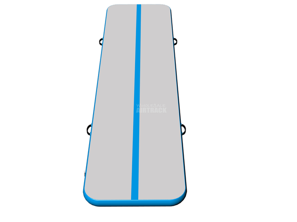 Factory tumble air mat gray surface light blue side airtrack devices