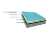 Factory tumble air mat gray surface light blue side air gymnastics track devices