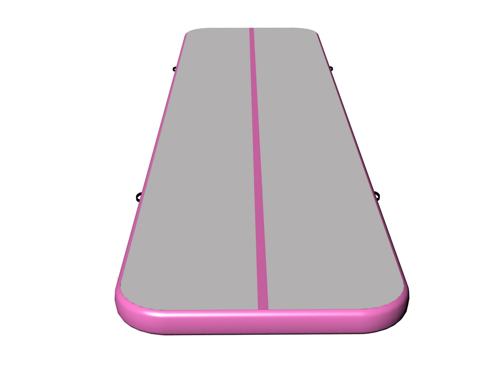 Fantastic quality air floor gray surface pink side air track prices