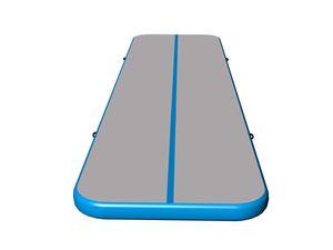 Amazing quality gym mattress gray surface light blue side air track for sale