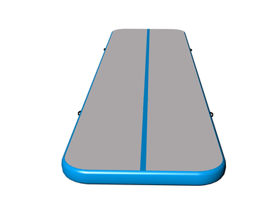 Amazing quality gym mattress gray surface light blue side air tumble track for sale
