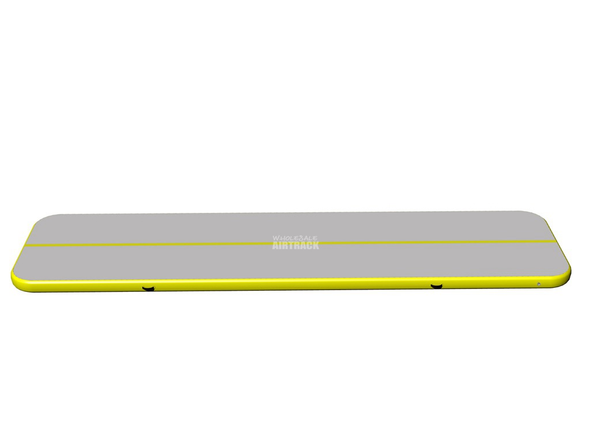 Beautiful air floor gymnastics gray surface yellow side tumble track for home
