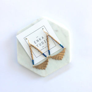 DECO EARRINGS - INDIGO