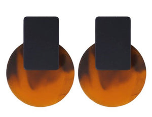CIRCLE TORTOISE SHELL WITH BLACK RECTANGLE
