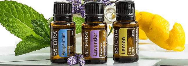 doTERRA Three 5Ml Essential Oils Introductory Kits - Lavender, Lemon, Peppermint