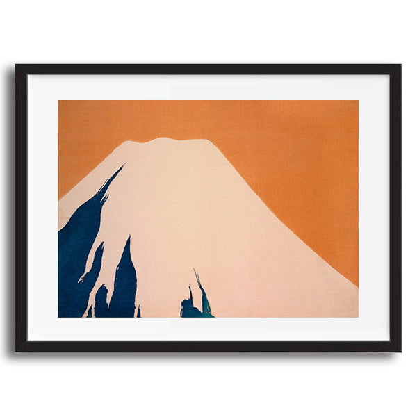 Vintage Japanese Minimalist Mountain illustration art print various sizes unframed and framed