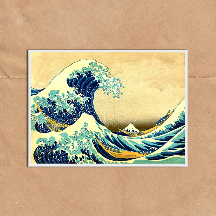 Vintage Japanese Wave Kanagawa illustration art print various sizes unframed and framed