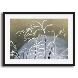 Japanese Floral Grass retro vintage wall art print framed and unframed