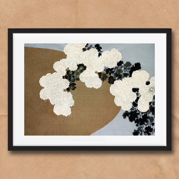 Blossom painting retro vintage Japanese wall art print framed and unframed