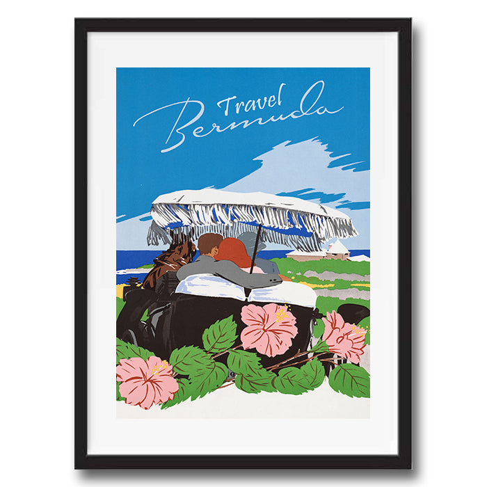 Bermuda retro vintage travel poster art print framed and unframed