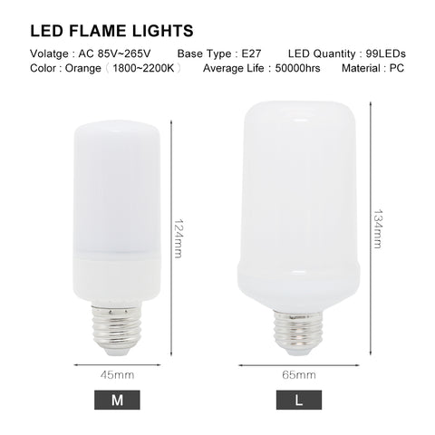 Led Flame Light Flicker Fire Effect Lamp
