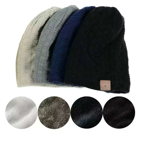Smart Beanie Hat With Built-in Wireless Bluetooth Headphone Speaker & Mic