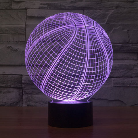 Color Changing 3D illusion Basketball Lamp