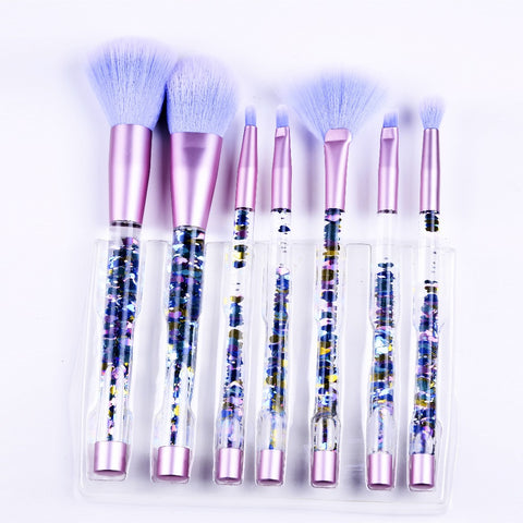 7PCS Mermaid Makeup Liquid Glitter Brush Set