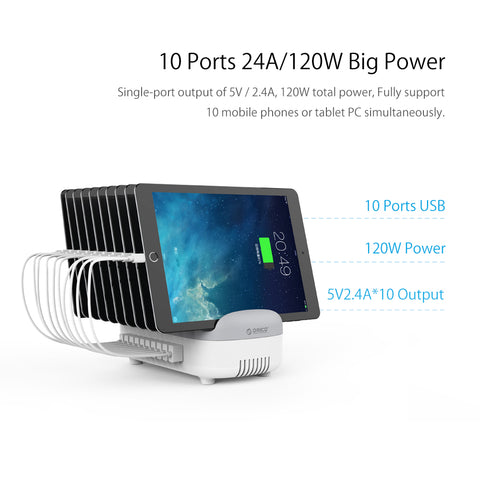 10 Ports USB Charger Station Dock