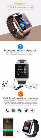Bluetooth Music Playback Touchscreen Smartwatch