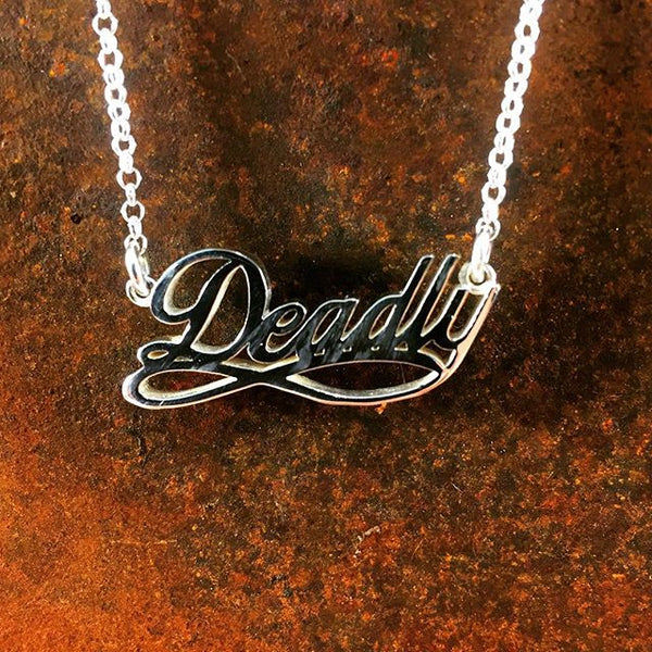 "Sterling Silver ""Deadly"" Necklace"