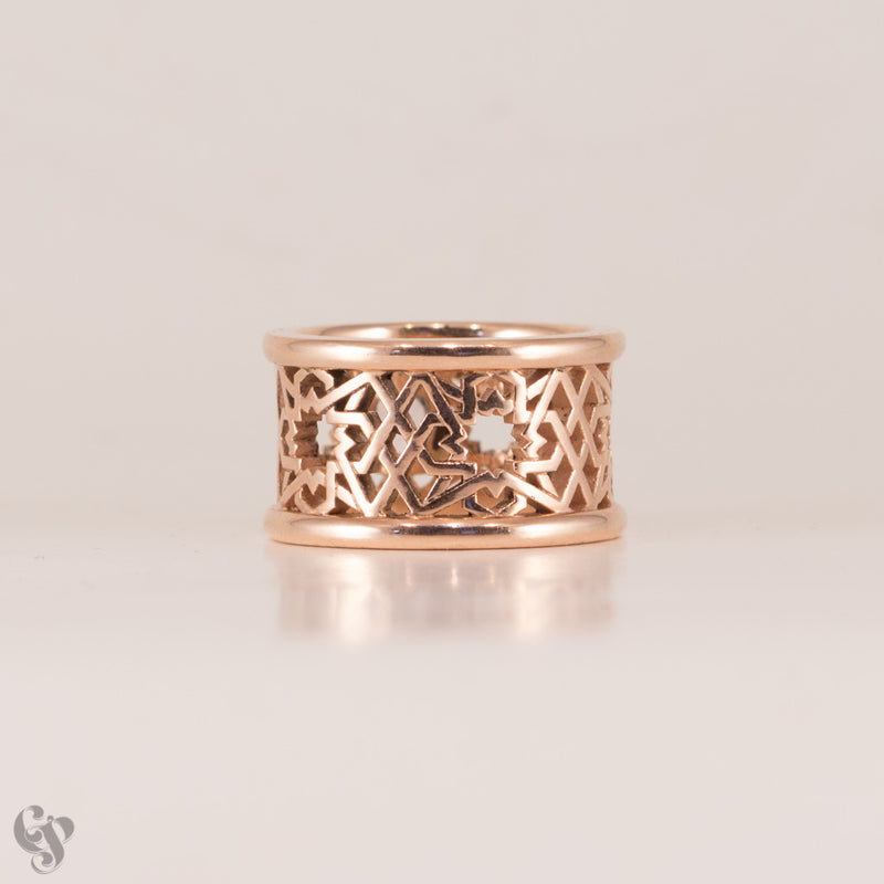 Alhambra Morganite and Rose Gold Ring