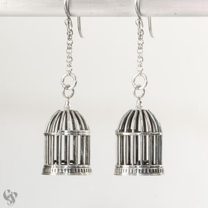 Sterling Silver Birdcage Earrings