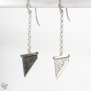 Sterling Silver Guillotine Earrings