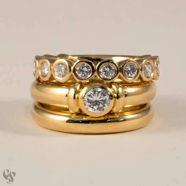 Pink Gold and Diamond Eternity Ring