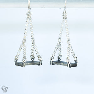 Sterling Silver Old Swing Earrings