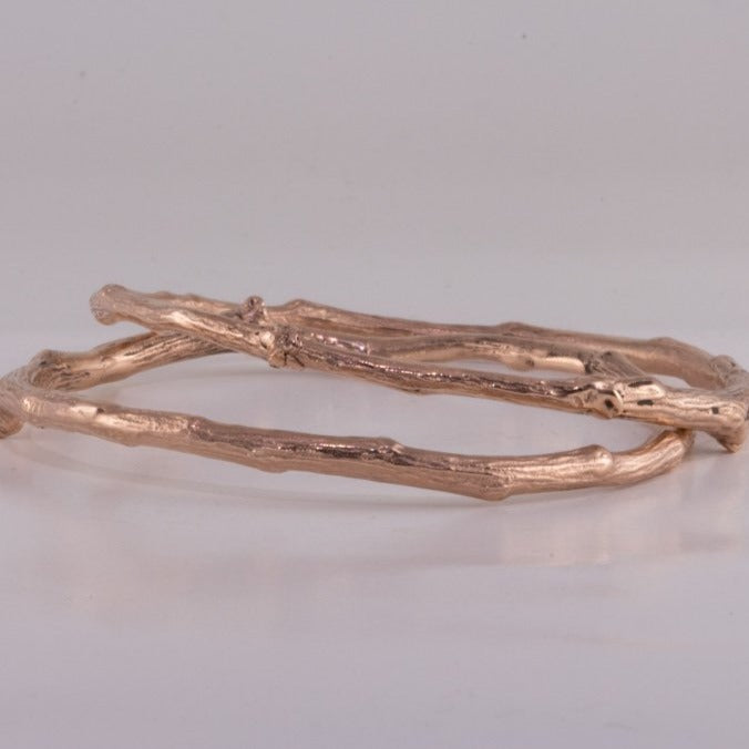 Rose Gold Twig Bangle
