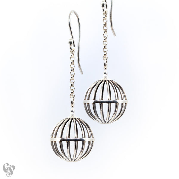 Round Cage Earrings