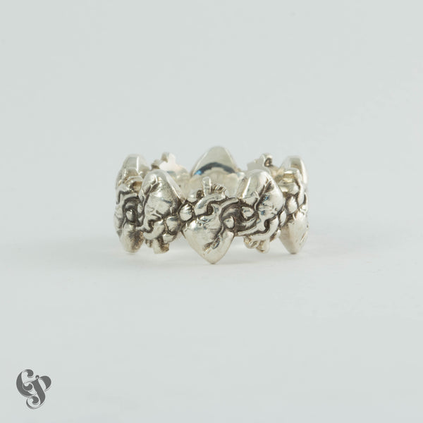 """Connected Hearts""  Sterling Silver Ring"