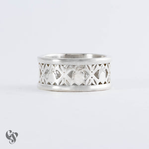 Sterling Silver Anatomical Heart and Crossbones Ring