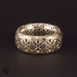 Sterling Silver Complicated Hearts Ring