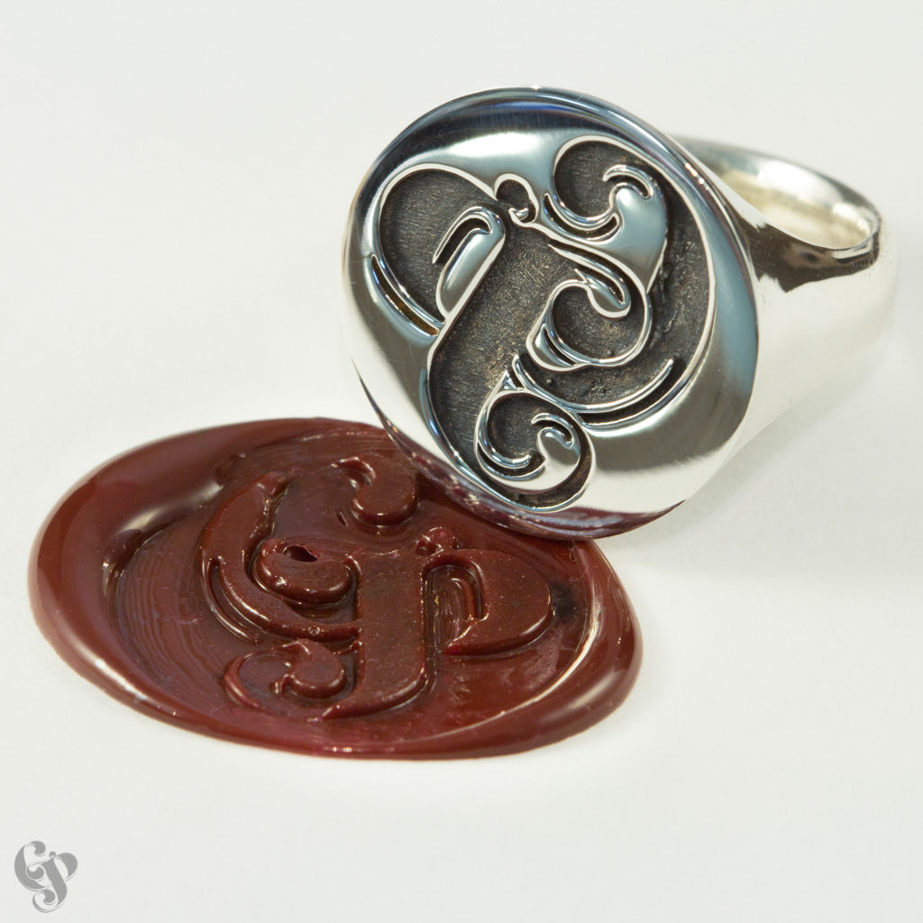 Sterling Silver Gilli Pepper Wax Seal  Ring