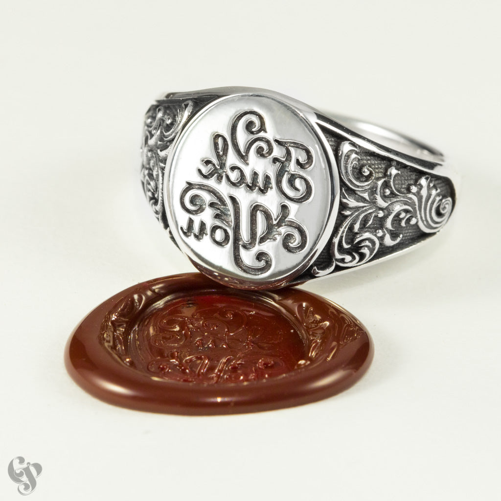 Sterling Silver Wax Seal Fancy